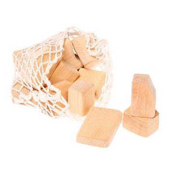 15 blocs en bois naturel Grimm's