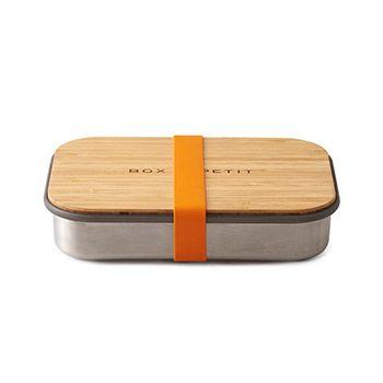 Sandwich box en bois & inox black+Blum - orange