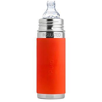 Gourde à bec Inox Isotherme 260ml Pura Orange