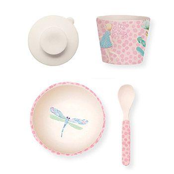 Coffret repas bébé avec ventouse Love Mae - Fairy