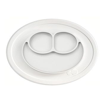 Assiette antidérapante Mini Mat EZPZ - Crème