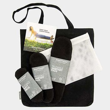 Starter kit serviettes hygiéniques lavables Imse Vimse Black