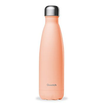 Bouteille isotherme Qwetch 500ml - Pastel pêche