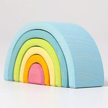 Petit Arc-en-ciel Grimm's Pastel - 6 pièces