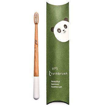 Brosse à dents en bambou pour enfants Truthbrush - Blanc
