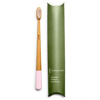Brosse à dents en bambou Medium Truthbrush - rose
