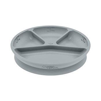 Assiette en silicone à compartiments Green Sprouts Gris