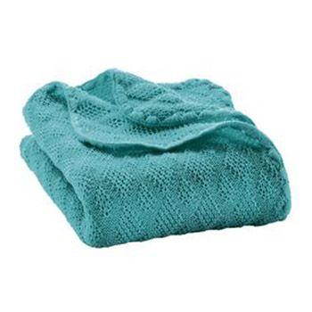 Couverture en laine merinos Disana Lagon