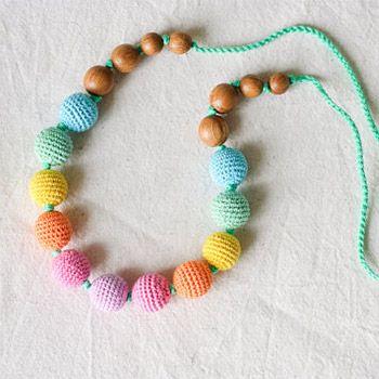 Collier d'allaitement / portage KangarooCare Aqua rainbow