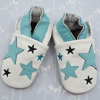 Chaussons en cuir Lookidz Blue stars