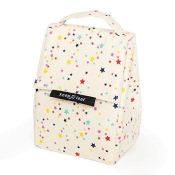 Lunch bag isotherme en coton bio Keep Leaf - Stars