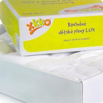 Lot de 10 langes à plier LUX Eco XKKO Blanc - 80x80cm