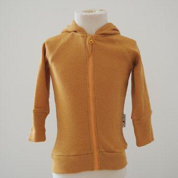 Gilet évolutif à capuche zippé en laine Manymonths Golden Oat