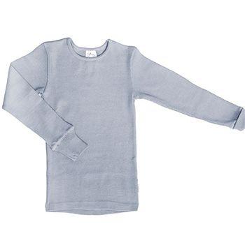 T-Shirt évolutif en laine Manymonths Silver Cloud