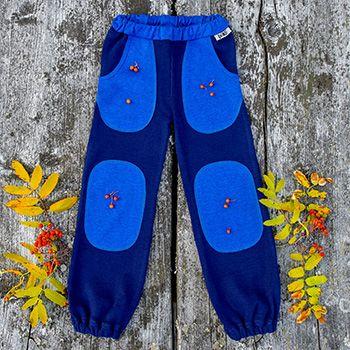 Pantalon en laine mérinos Manymonths Night Sky