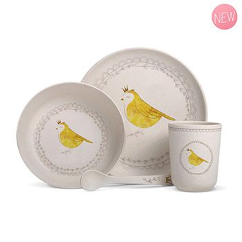 Coffret vaisselle en bambou Gaëlle Duval - Oiseau