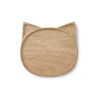 Assiette en bois Liewood - Chat