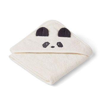 Cape de bain en coton bio Liewood - Panda crème
