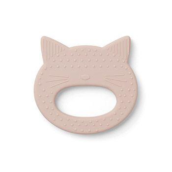 Anneau de dentition en silicone Liewood - Chat rose