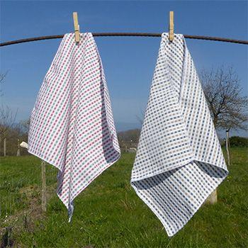 Lot de 2 grands mouchoirs en coton Altero Sac
