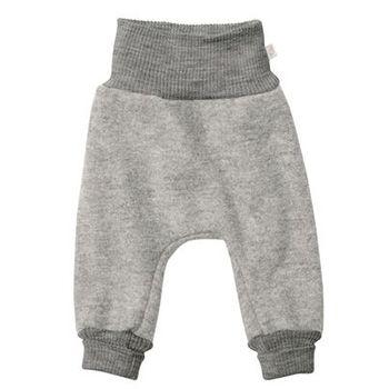 Pantalon en laine bouillie Disana Gris clair
