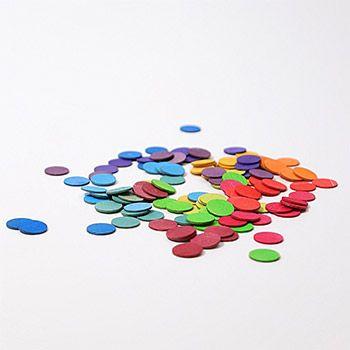 Confettis en bois Grimm's - Rainbow
