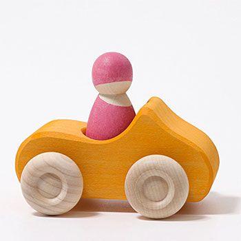 Petite voiture décapotable en bois Grimm's - Orange