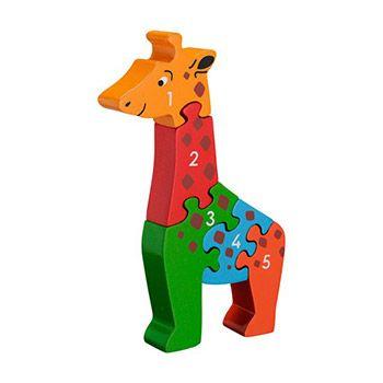 Puzzle Girafe 1-5 en bois Lanka Kade