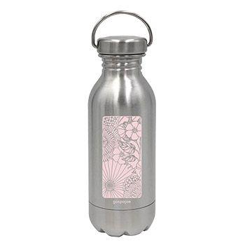 Gourde en inox Daily Mini Gaspajoe 330ml - Champêtre rose