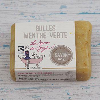 Savon surgras Les Savons de Joya Champagne & Menthe verte