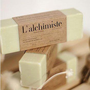 Stick détachant au savon de Marseille L'Alchimiste