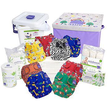 Pack PREMIUM couches lavables Miosoft Bambino Mio - Safari
