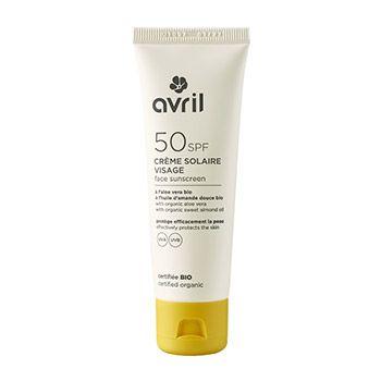 Crème solaire visage Bio Avril SPF50