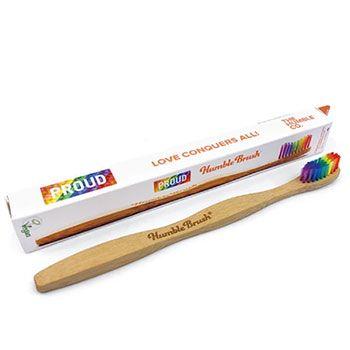 Brosse à dents adultes en bambou The Humble Co Soft - Arc en ciel