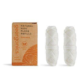 Lot de 2 recharges fil dentaire écologique Georganics - Orange