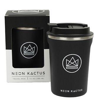 Mug isotherme en inox Neon Kactus - Black