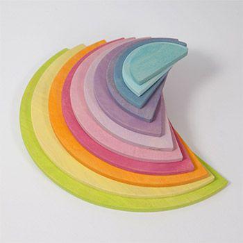 Demi-cercles en bois Grimm's - Pastel