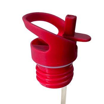 Bouchon sport avec paille pour gourde SPORTY - Rouge