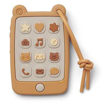 Téléphone en silicone Liewood - Jaune