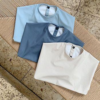 Lot de 2 tabliers imperméables en polyester recyclé Liewood - Blue mix