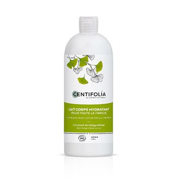Lait corps hydratant bio pour toute la famille Centifolia