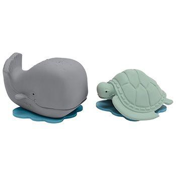 Coffret baleine & tortue en caoutchouc naturel Hevea