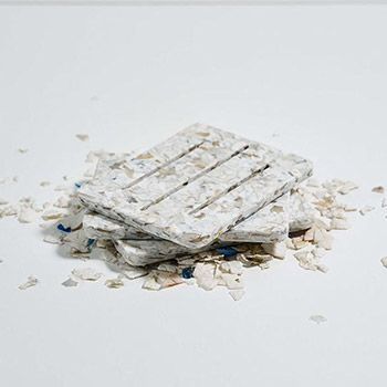Porte-savon 100% recyclé Umaï - blanc