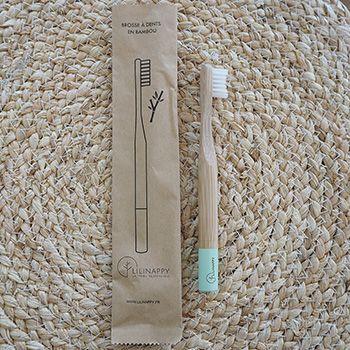 Brosse à dents en bambou pour Kids LiliNappy - Vert