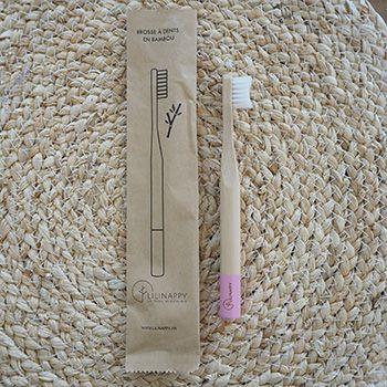 Brosse à dents en bambou pour Kids LiliNappy - Rose