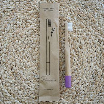 Brosse à dents en bambou pour Kids LiliNappy - Lilas