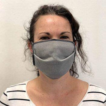 Lot de 3 masques réutilisables en coton bio adultes