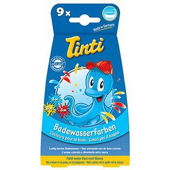 Boite de 9 pastilles de couleur pour le bain Tinti