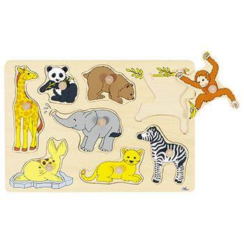 Puzzle à encastrer bébés animaux Goki