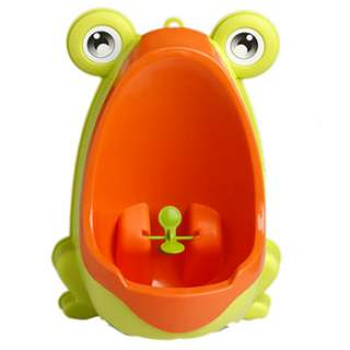 Petit urinoir d'apprentissage Grenouille jaune/orange